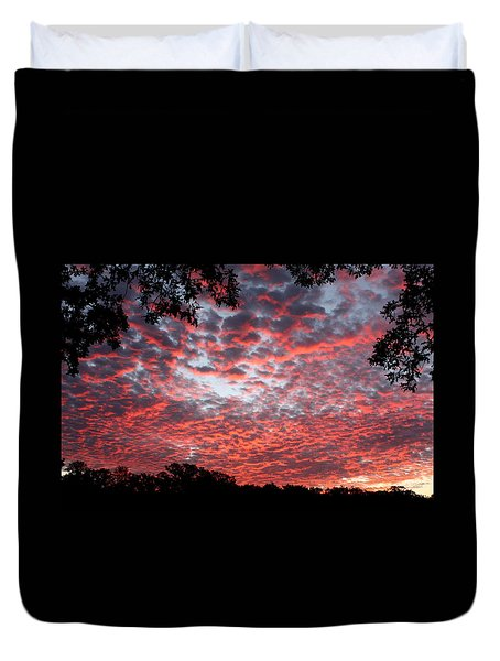 Sunrise Through The Trees Duvet Cover