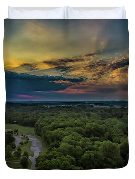 Sunrise Thru The Clouds Duvet Cover