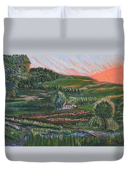 Sunrise Touch Duvet Cover by Felicia Tica