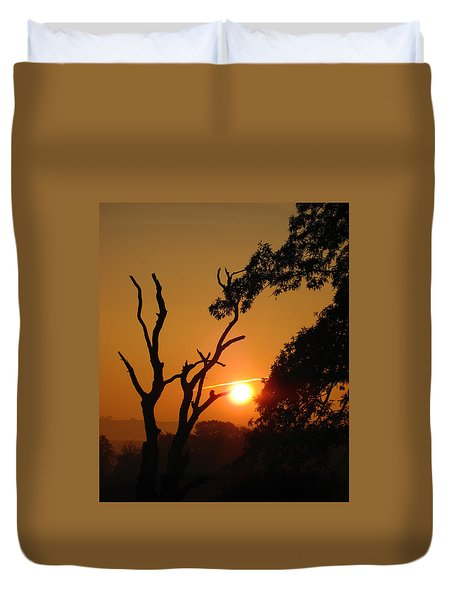 Sunrise Trees Duvet Cover