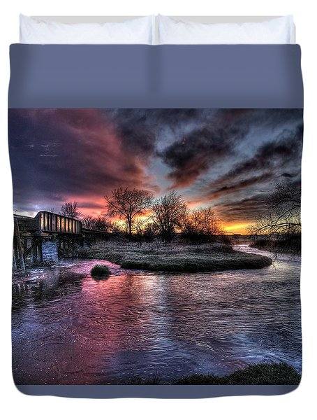 Sunrise Trestle #1 Duvet Cover