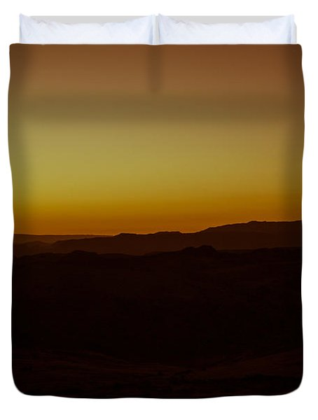 Sunrise Valley Of Fire Duvet Cover by Wade Brooks