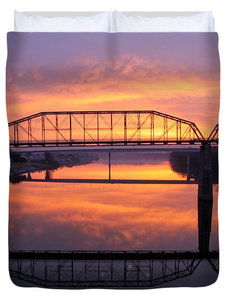 Sunrise Walnut Street Bridge 2 Duvet Cover