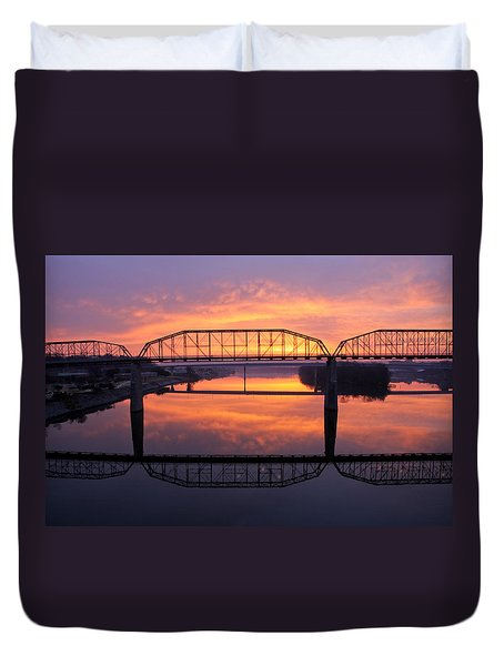 Sunrise Walnut Street Bridge 2 Duvet Cover