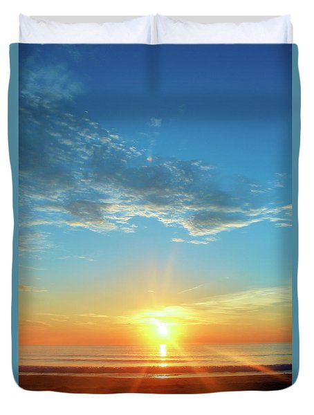 Sunrise With Flare Duvet Cover