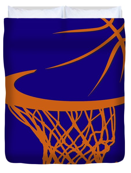 Suns Basketball Hoop Duvet Cover