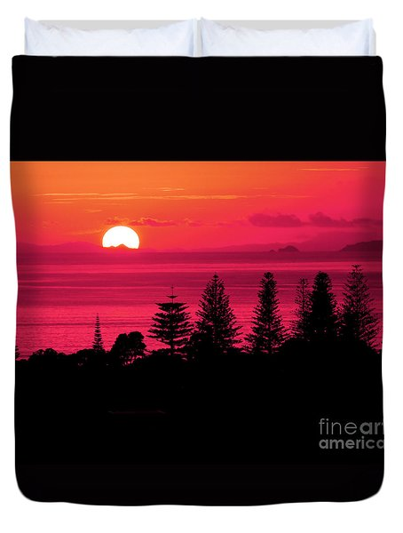 Suns Up Duvet Cover