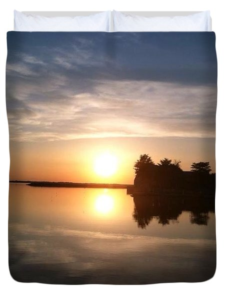 Sunset @ Rend Lake Duvet Cover