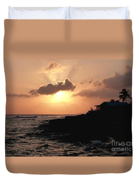 Sunset @ Spotts Duvet Cover by Amar Sheow