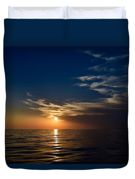 Duvet Cover featuring the photograph Sunset 1  by Shabnam Nassir