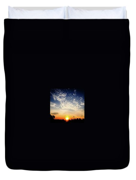 Duvet Cover featuring the photograph Sunset 25 May 16 by Toni Martsoukos