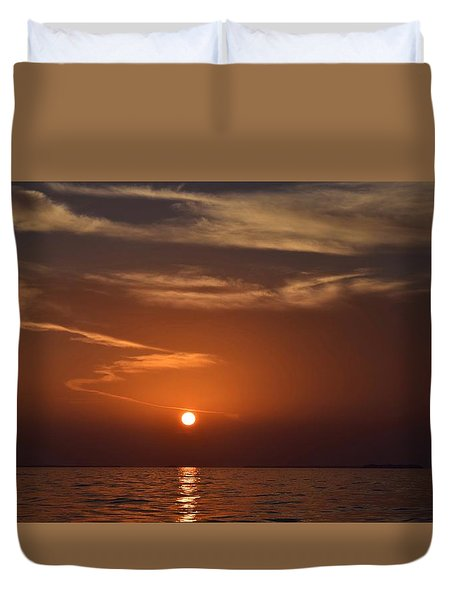 Duvet Cover featuring the photograph Sunset 3 by Shabnam Nassir