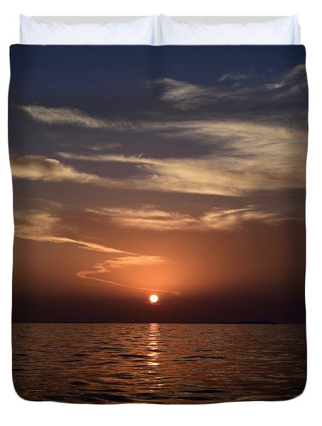 Duvet Cover featuring the photograph Sunset 5 by Shabnam Nassir