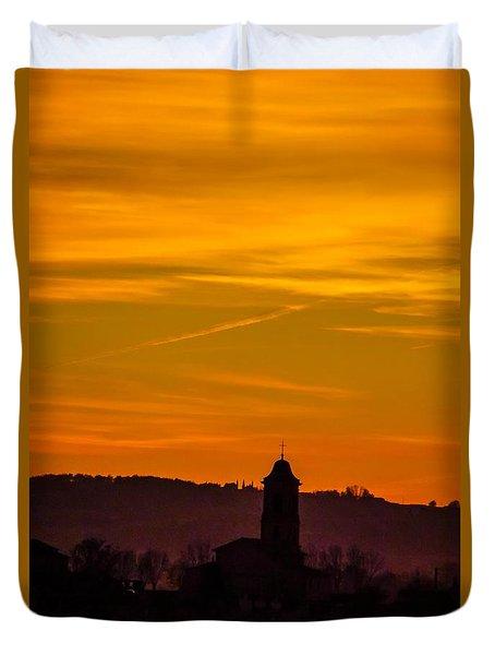 Sunset 6 Duvet Cover by Jean Bernard Roussilhe