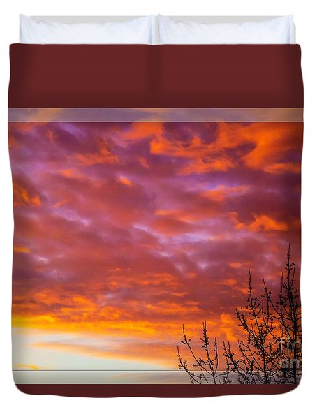 Sunset 7 Duvet Cover by Jean Bernard Roussilhe