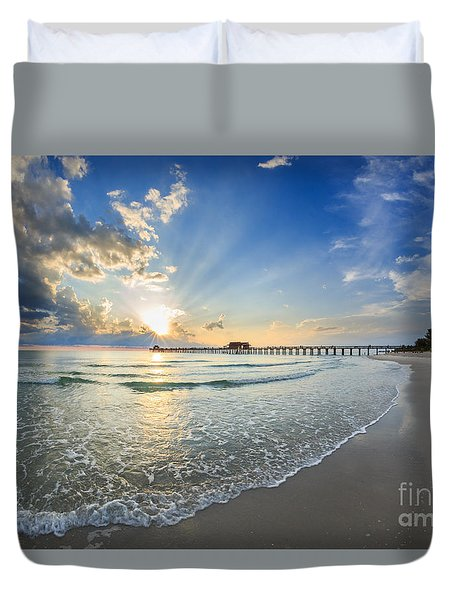 Sunset After The Storm Duvet Cover