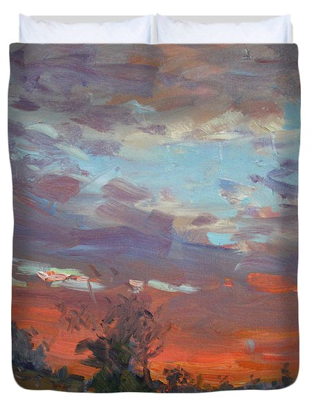 Sunset After Thunderstorm Duvet Cover