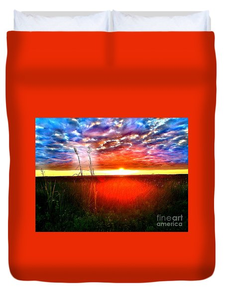Sunset Duvet Cover by Amy Sorrell