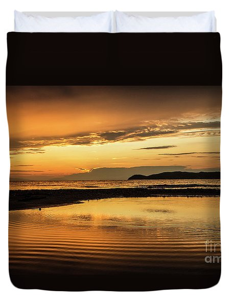 Sunset And Reflection Duvet Cover