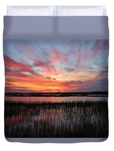 Sunset And Reflections 2 Duvet Cover
