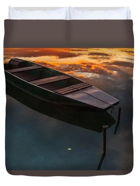 Sunset Aquarelle Duvet Cover by Davorin Mance