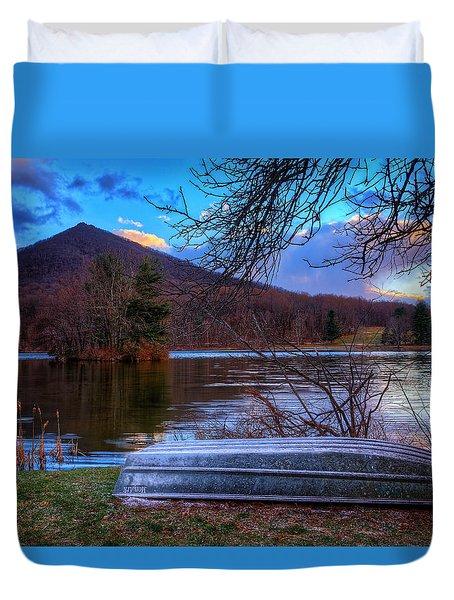 Sunset At Abbott Lake Duvet Cover