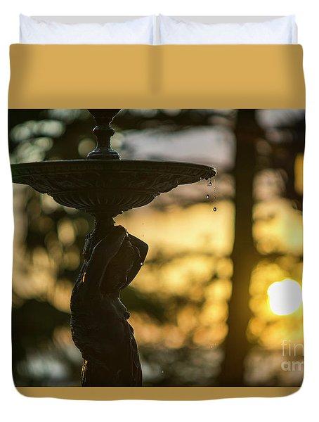 Duvet Cover featuring the photograph Sunset At Alameda Apodaca Cadiz Spain by Pablo Avanzini