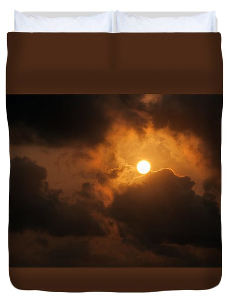 Sunset At Aruba Duvet Cover