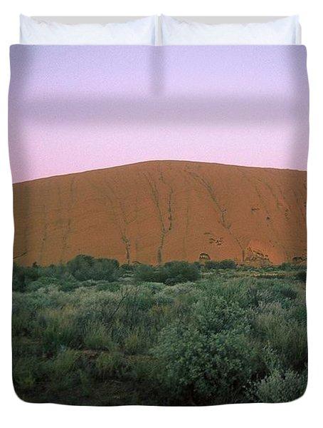 Sunset At Ayre's Rock Duvet Cover