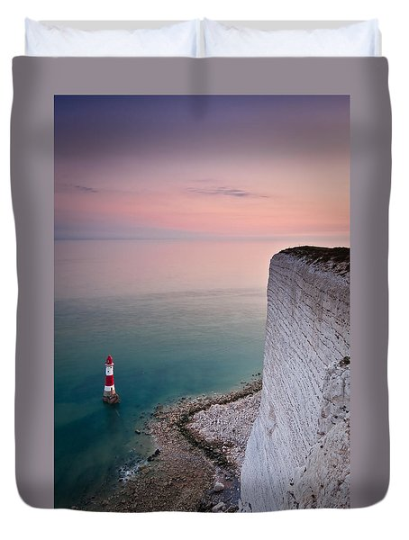 Sunset At Beachy Head Duvet Cover