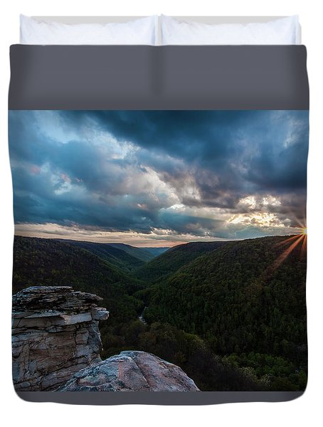 Sunset At Blackwater Falls State Park Duvet Cover