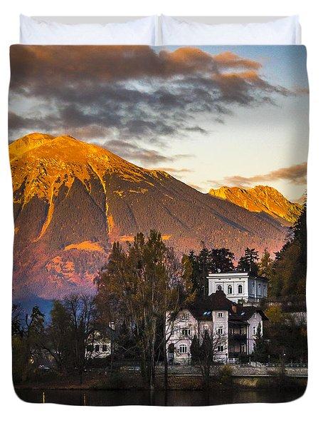 Sunset At Bled Duvet Cover