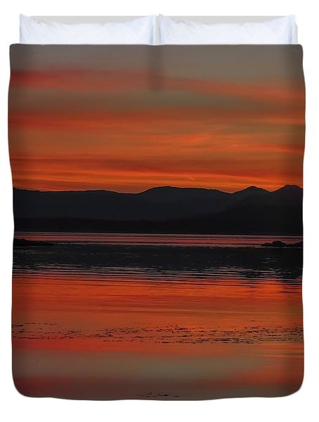 Sunset At Brothers Islands Duvet Cover
