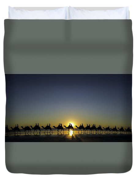Sunset At Cable Beach Duvet Cover