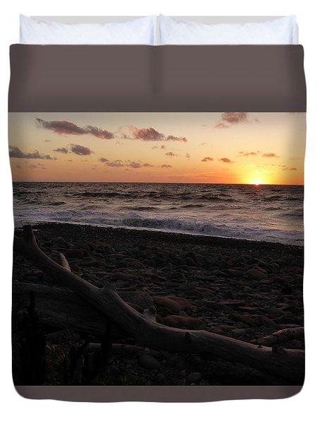 Sunset At Cap Rouge Duvet Cover