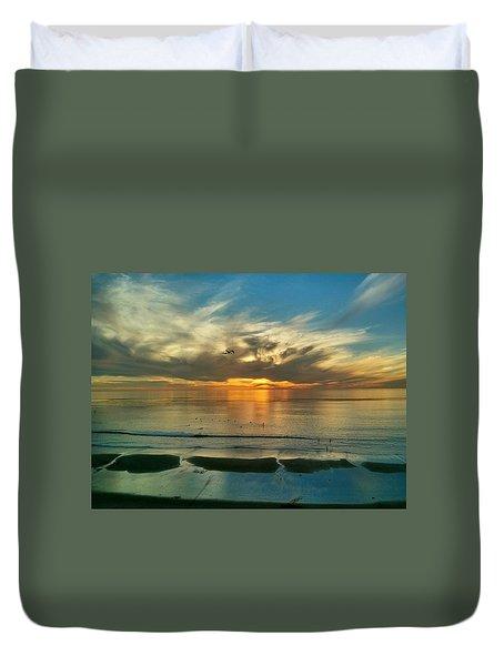 Sunset At Carlsbad Duvet Cover