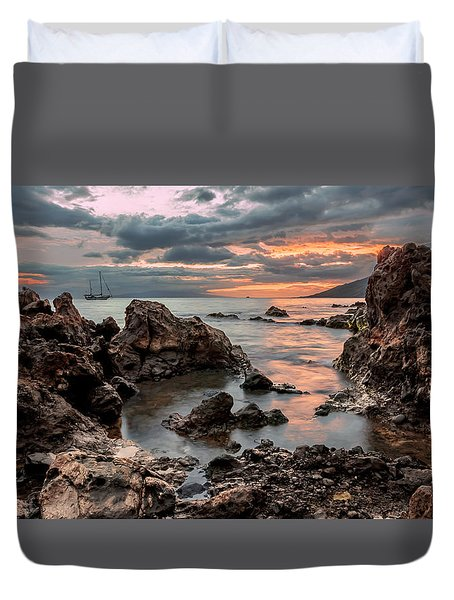 Sunset At Charley Young Beach Duvet Cover