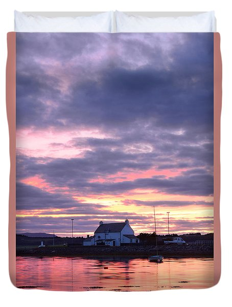Sunset At Clachnaharry Duvet Cover