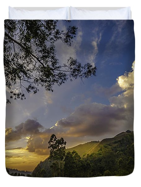 Sunset At Cocora Duvet Cover