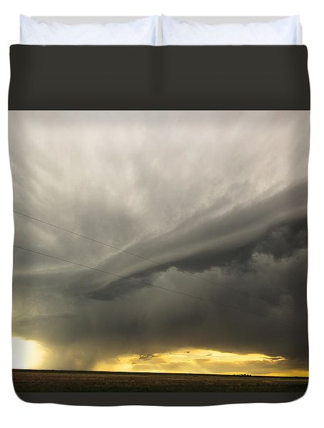 Sunset At Dalhart Texas Duvet Cover