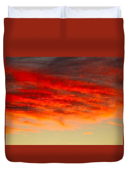 Sunset At Eaton Rapids 4826 Duvet Cover