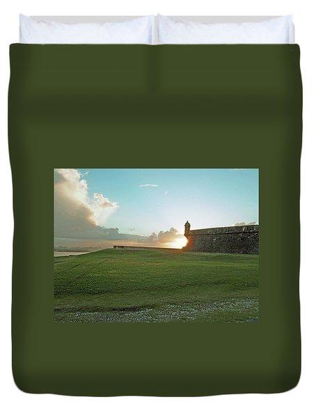 Sunset At El Morro Duvet Cover