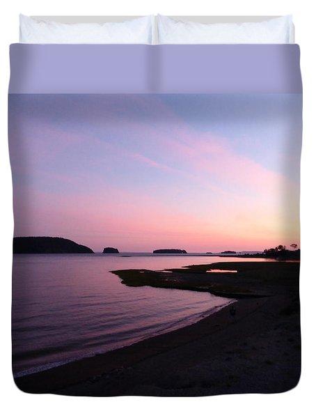 Sunset At Five Islands Duvet Cover