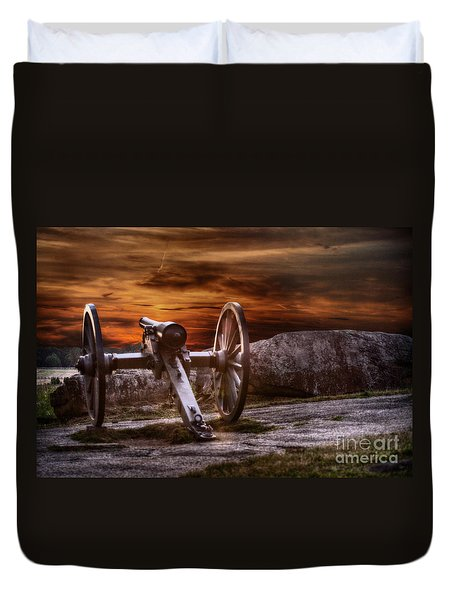 Sunset At Gettysburg Duvet Cover by Randy Steele