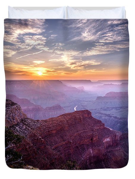 Sunset At Grand Canyon Duvet Cover