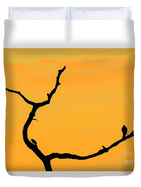 Sunset At Green Cay Wetlands Duvet Cover