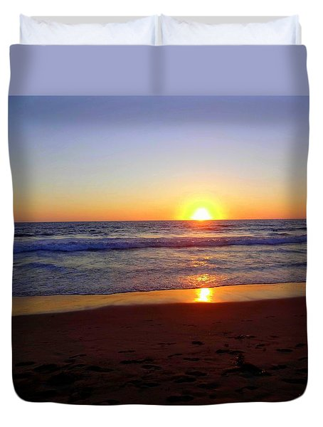 Sunset At Hermosa Duvet Cover
