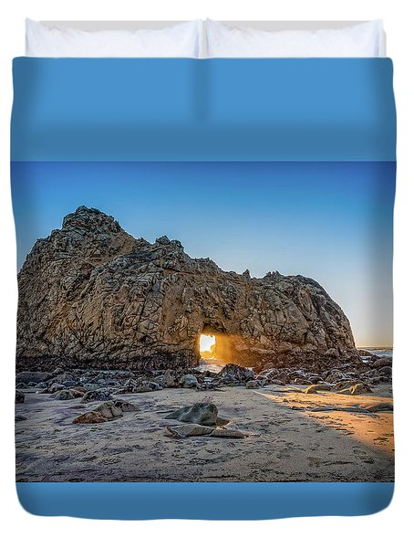 Sunset At Hole In The Rock Duvet Cover by James Hammond