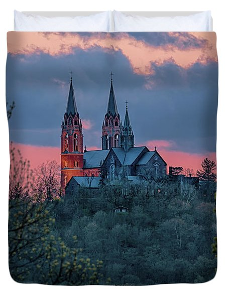 Sunset At Holy Hill Duvet Cover