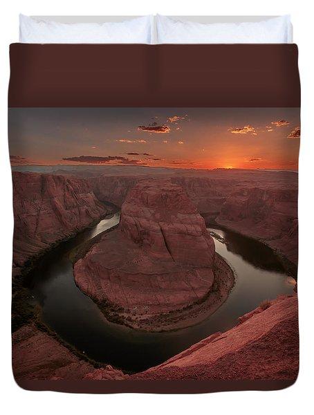 Sunset At Horseshoe Bend Duvet Cover